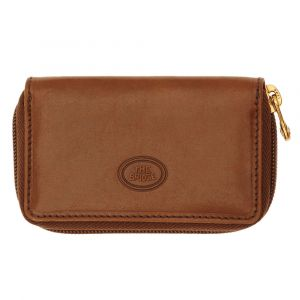 THE BRIDGE Story Line - Brown Leather Key Holder with Zip Made in Italy
