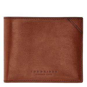 THE BRIDGE Dante Line – Brown Leather Card Holder for Men