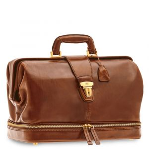 THE BRIDGE Story Line – Brown Leather Doctor Bag Made in Italy