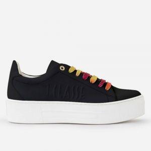 1A Classe Alviero Martini Summer Pop Line – Black Rubberised Textil Fabric Sneakers P032