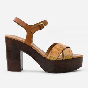 1A Classe Alviero Martini Geo Classic – Brown Nappa Leather Sandals E383