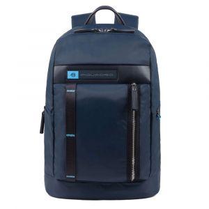 """Zaino Uomo Porta Pc 15,6"""" - PIQUADRO CA4545BIO linea PQ-Bios in Nylon Rigenerato Blu"""