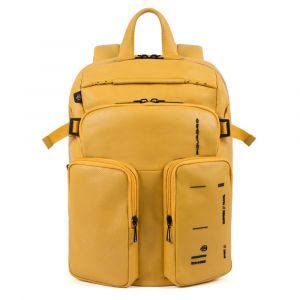 PIQUADRO Kyoto Line – Yellow Leather Backpack CA4922S106