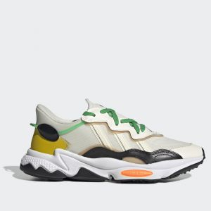 Scarpe Uomo ADIDAS Sneakers linea Ozweego colore Bianco Nero e Arancione