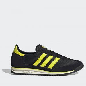 Scarpe ADIDAS Sneakers linea SL 72 colore Nero e Giallo Acido