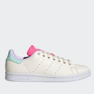Scarpe Donna ADIDAS Sneakers linea Stan Smith Vegan colore Bianco Verde Acqua e Rosa