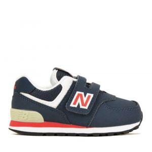Scarpe Bambina NEW BALANCE Sneakers 574 in Tessuto Sintetico e Mesh colore Navy e Red