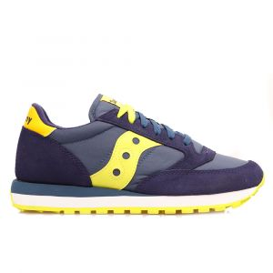 Scarpe Uomo Saucony Sneakers Jazz Original Navy Blue - Giallo
