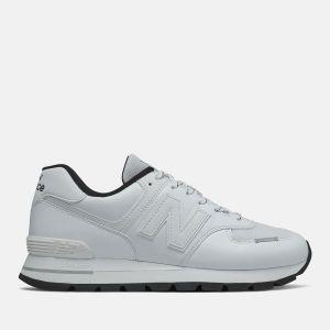 Scarpe Uomo NEW BALANCE Sneakers 574 Rugged in Suede e Mesh colore White