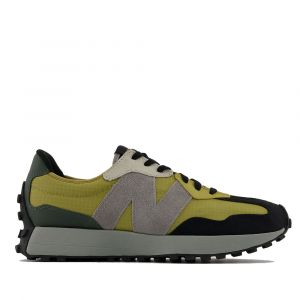 Scarpe Uomo NEW BALANCE Sneakers 327 in Suede e Nylon colore Byzantine Gold e Golden Poppy