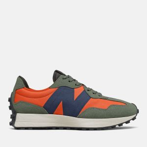 Scarpe Uomo NEW BALANCE Sneakers 327 in Suede e Nylon colore Dark Blaze e Natural Indigo