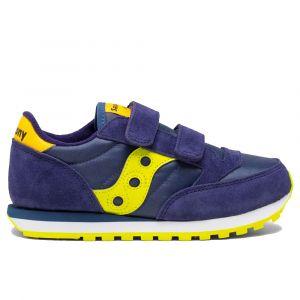 Scarpe Bambino Saucony Sneakers Jazz Double Hook & Look Kids Navy - Green- Yellow