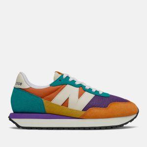 Scarpe Donna NEW BALANCE Sneakers 237 in Suede e Mesh colore Vintage Orange