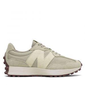Scarpe Donna NEW BALANCE Sneakers 327 in Suede e Nylon colore Grey Oak