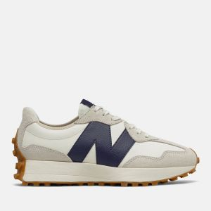 Scarpe Donna NEW BALANCE Sneakers 327 in Suede e Nylon colore Moonbeam e Navy
