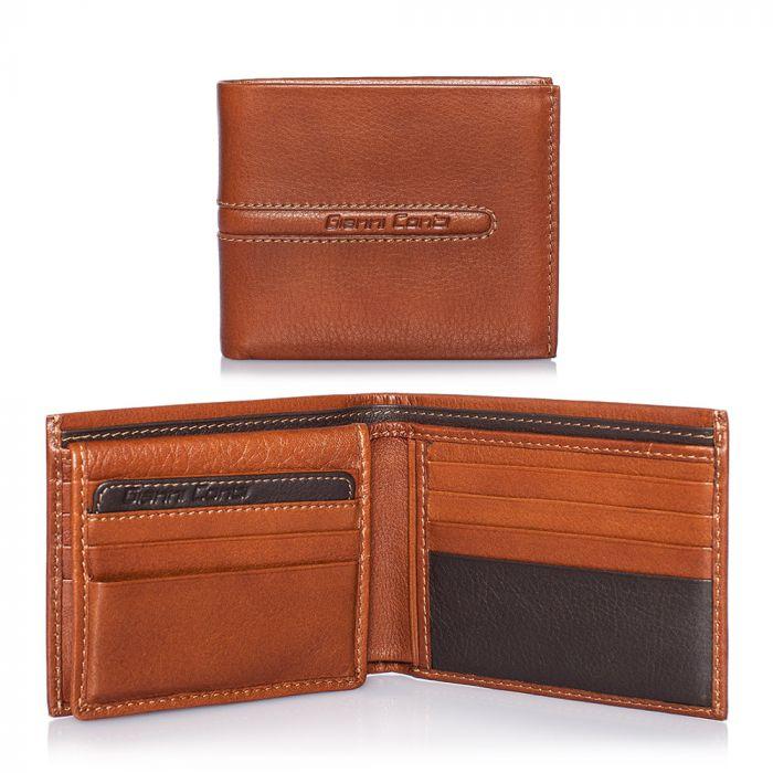 Vera Pelle porta carte di credito marrone per 15 carte