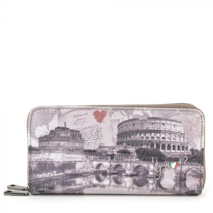 Portafoglio Donna Y NOT G-368 Roma Love Letter con doppia zip around