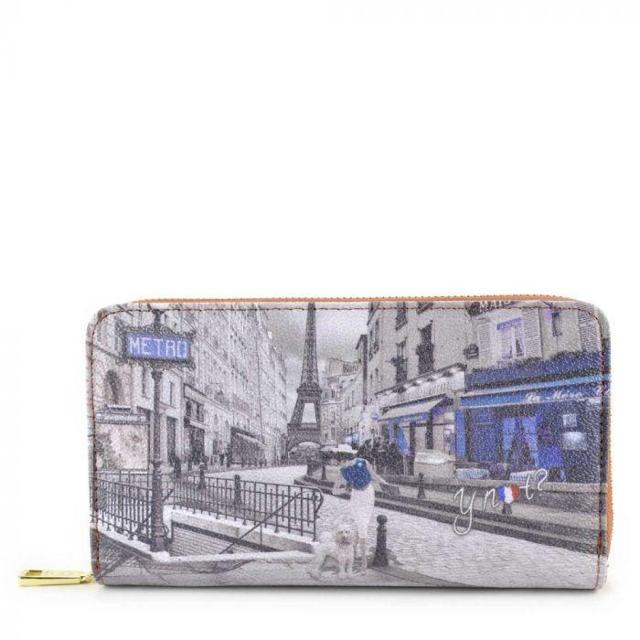 Portafoglio Donna Y NOT G-372 Metro Parisienne con Zip around e Clip