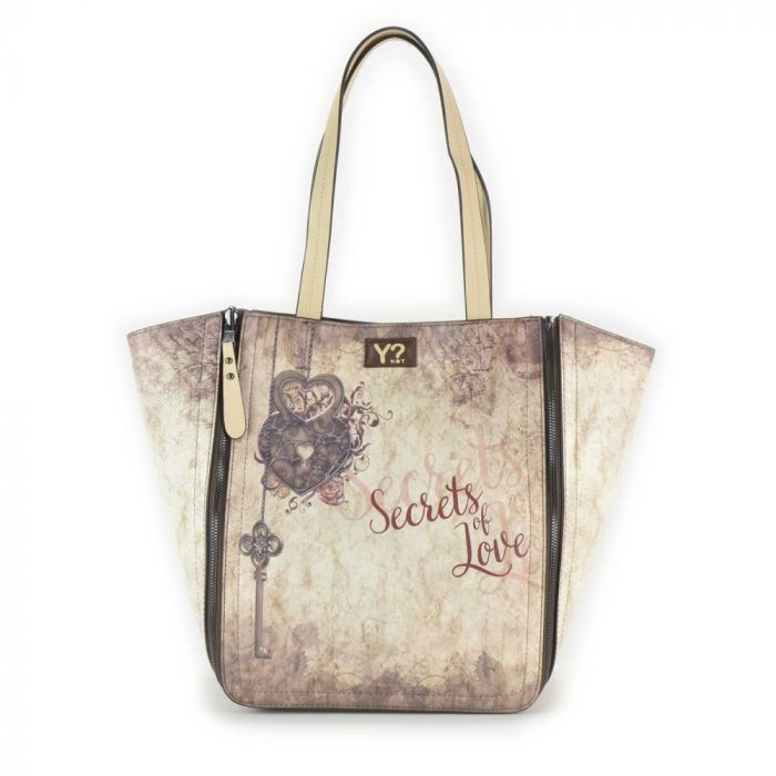 Borsa Donna Y NOT a Spalla - E46 Secrets of Love con Pochette in omaggio