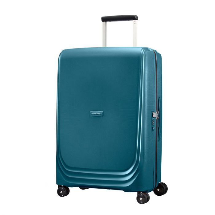 Trolley Medio 69cm 4 Ruote Leggero 3,5kg Rigido - Samsonite Optic Metallic Green