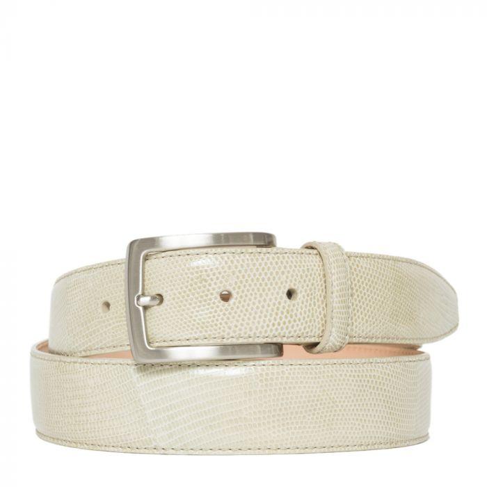 Cintura Uomo in Vera Lucertola colore Beige Chiaro 120cm/3,5cm - Made in Italy