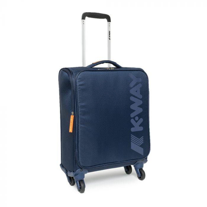 Trolley Bagaglio Cabina K-WAY linea K-JET 55cm 4 Ruote 1,8kg Blu - Misure Ryanair