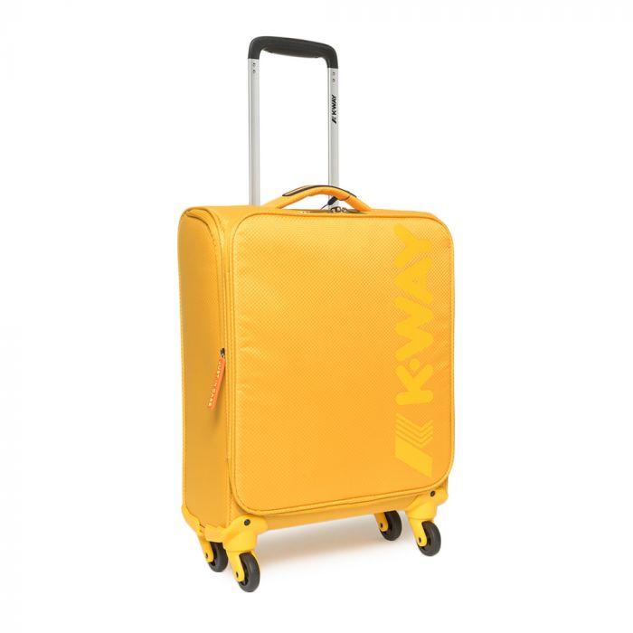 Trolley Bagaglio Cabina K-WAY linea K-JET 55cm 4 Ruote 1,8kg Giallo - Misure Ryanair