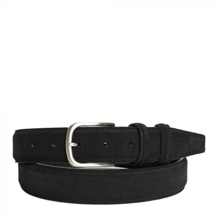 cintura camoscio nero made in italy