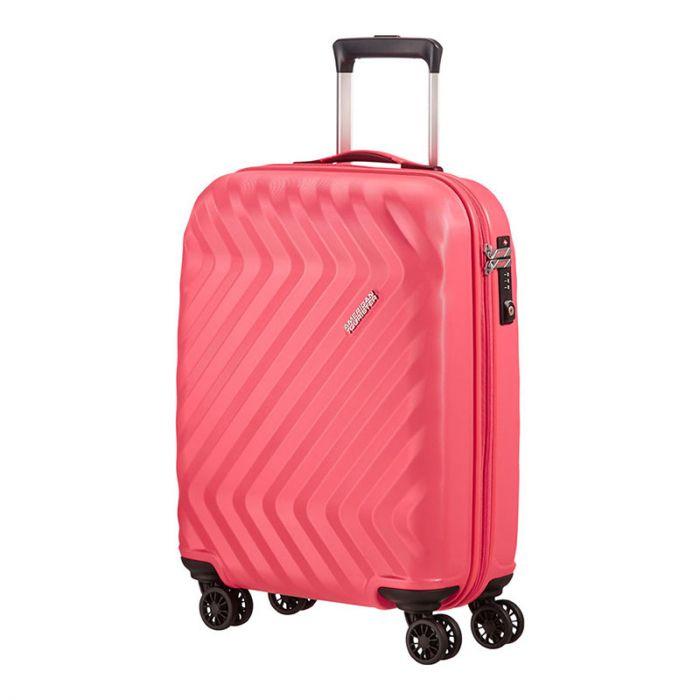 Trolley Cabina 55cm Ryanair 4 Ruote Leggero 2,6kg - Samsonite American Tourister ZiggZagg Pink