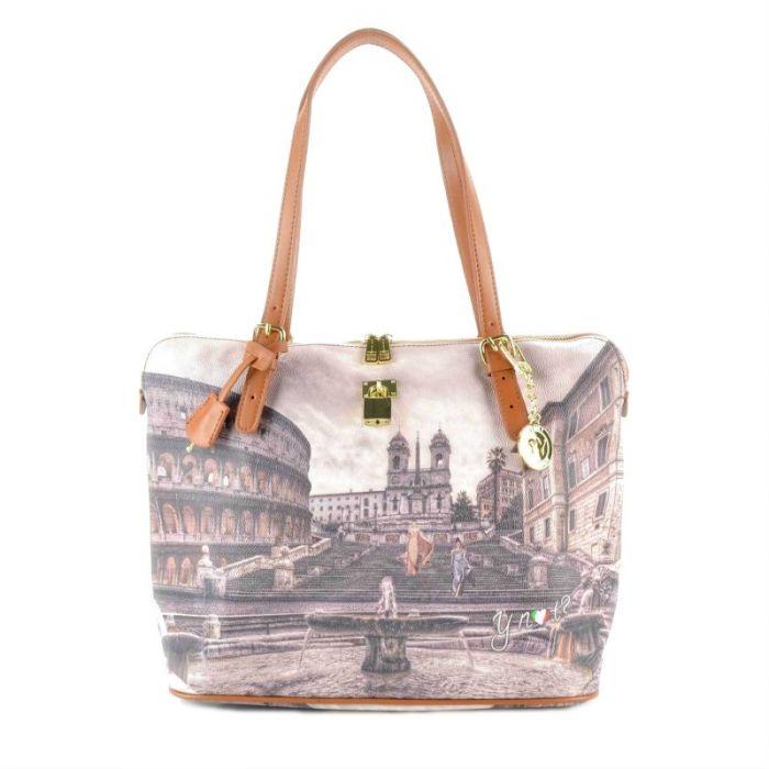 Borsa Donna Y NOT Shopping a Spalla - G-388 Piazza di Spagna