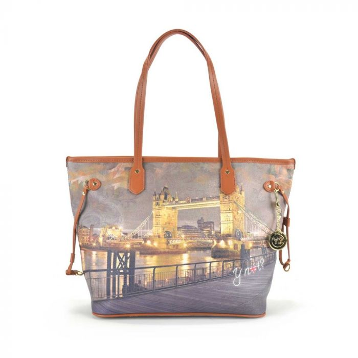 Borsa Donna Y NOT Shopping Grande a Spalla I 319 Golden Bridge