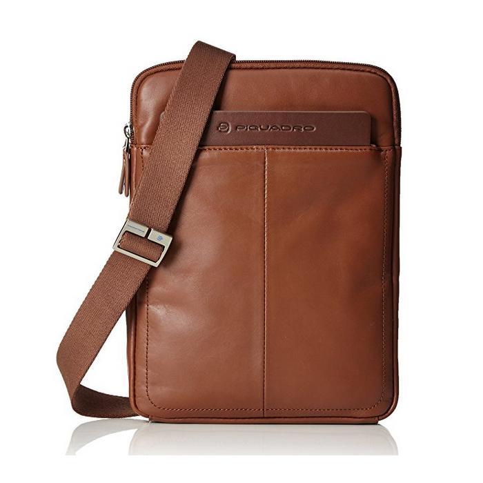 nuovo concetto 2faa9 078a2 compra online a sconto borsello piquadro in pelle marrone ...