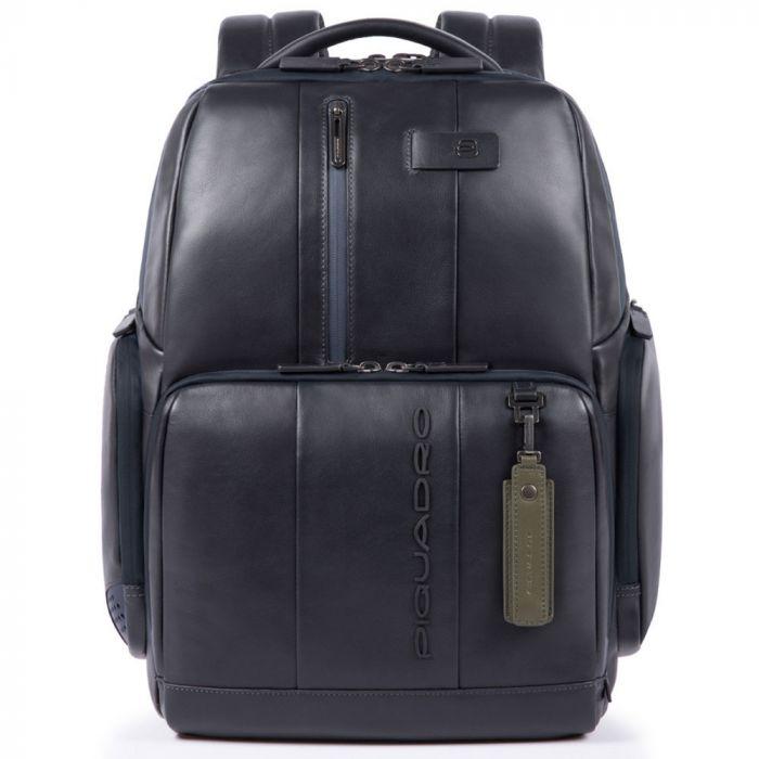 "PIQUADRO Zaino Porta Pc 15,6"" - linea Urban Pelle Blu CA4532UB00"