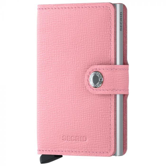 Porta Carte con Clip SECRID linea Crisple in Pelle Pink con RFID