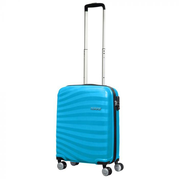 Trolley Cabina Rigido 4 Ruote 55cm - Samsonite American Tourister Oceanfront Spring Blue