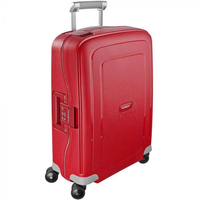 Trolley Cabina Rigido 4 Ruote 55cm - Samsonite S'Cure Crismon Red