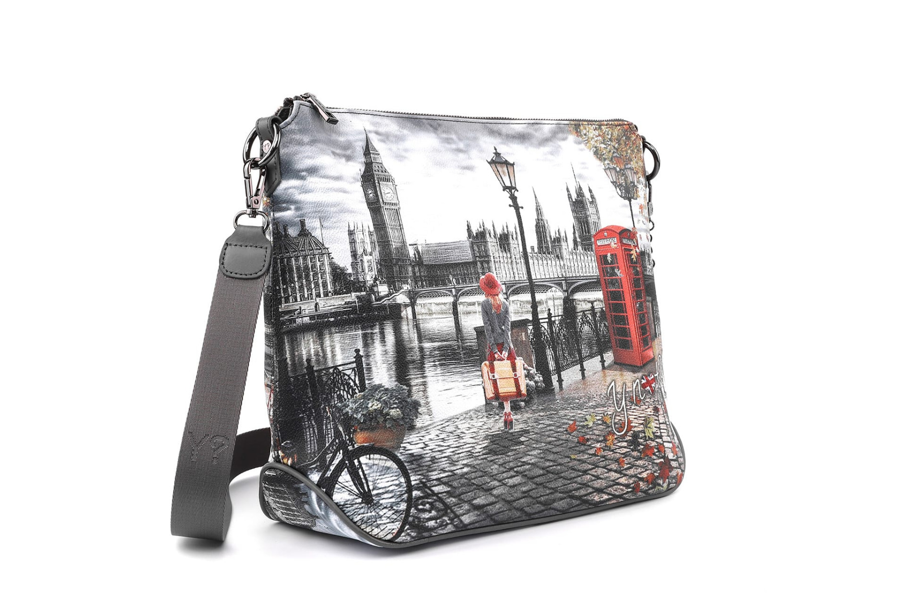 Borsa Donna CrossBody a Tracolla Y NOT K 391 Autumn In London