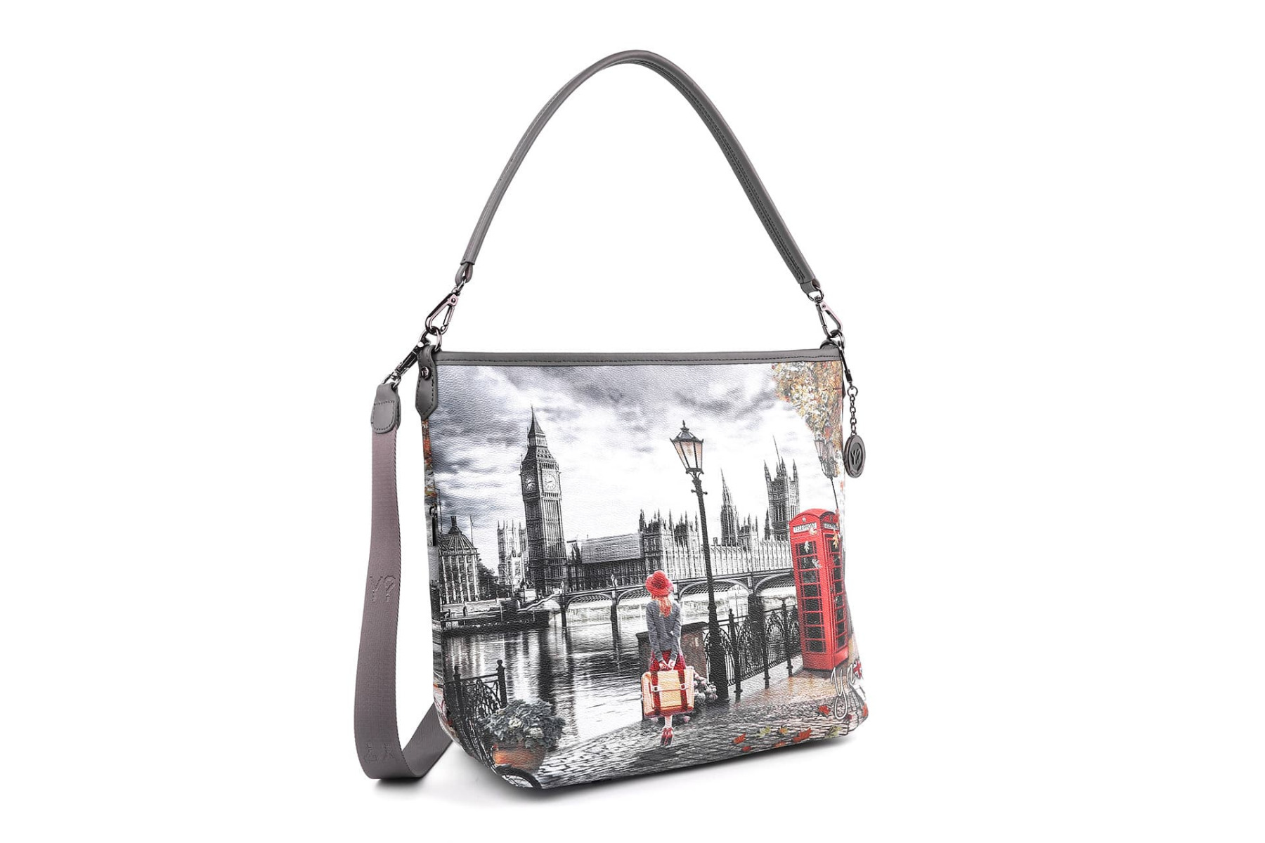 Borsa Donna Y NOT a Spalla con Tracolla K 349 Autumn In London